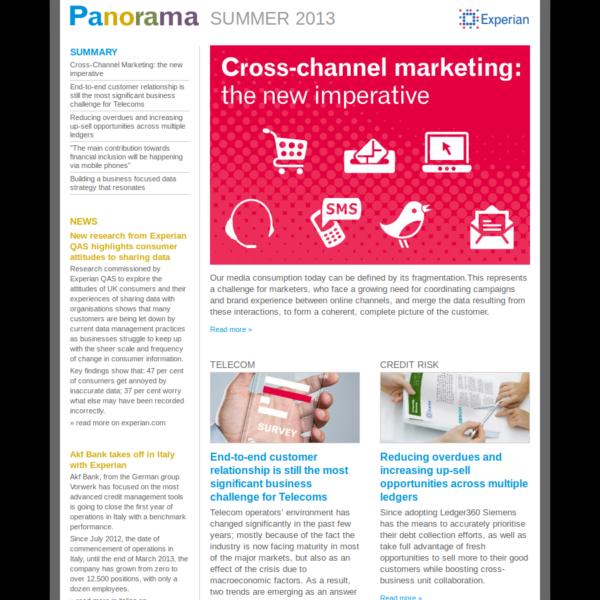 Experian Panorama newsletter